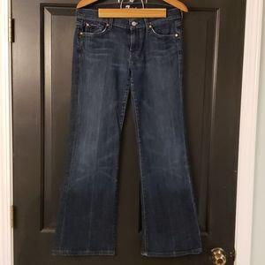 7 for All Mankind dark wash Dojo flare jeans